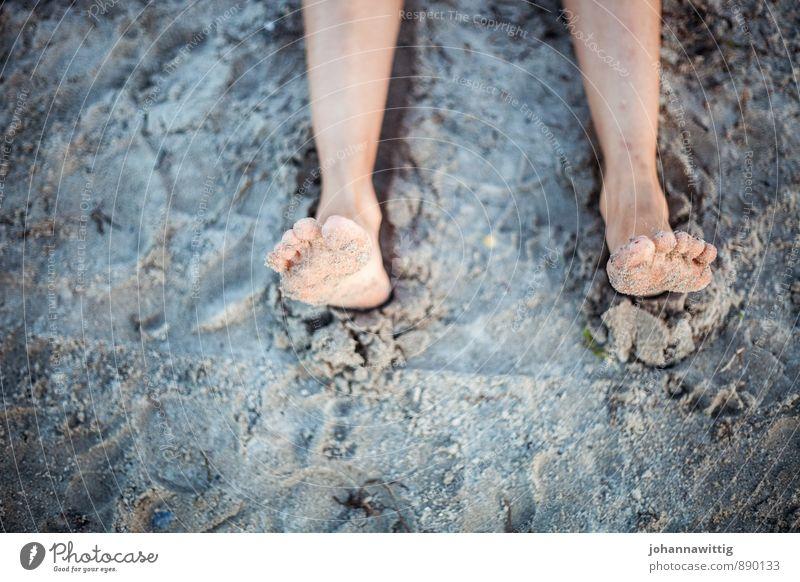 summer Wellness Well-being Relaxation Calm Summer Summer vacation Beach Feminine Life Feet 1 Human being Nature Earth Beautiful weather To enjoy Lie