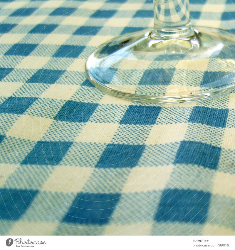 Old White Blue Nutrition Glass Food Kitchen Gastronomy Fairs & Carnivals Alcoholic drinks Bavaria Dinner Meal Tradition Oktoberfest Checkered
