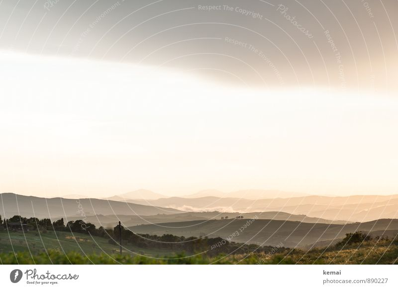 Is this the Shire or what?! Vacation & Travel Tourism Summer vacation Tuscany Italy Environment Nature Landscape Sky Clouds Horizon Sunrise Sunset Sunlight