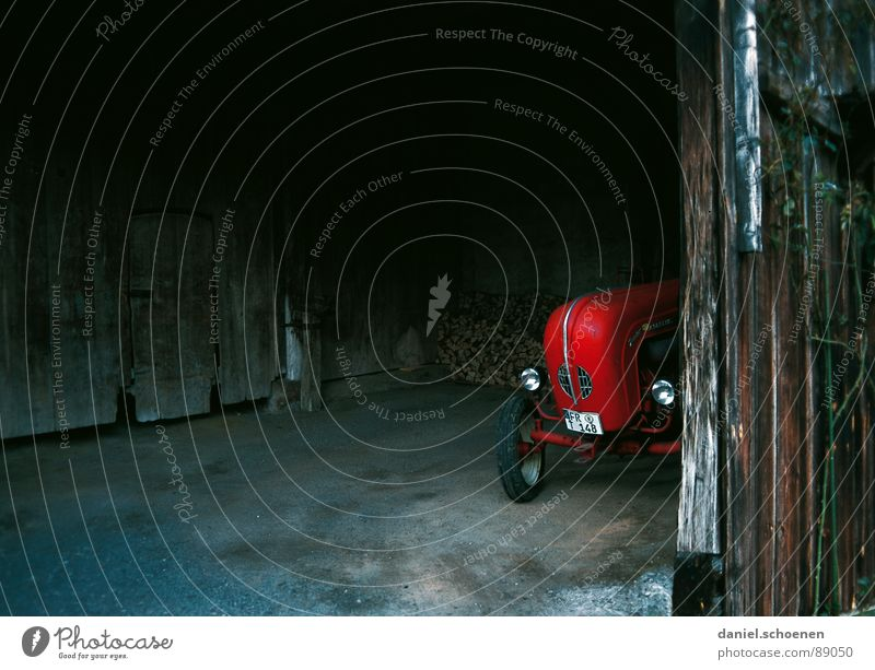Old Red Dark Background picture Derelict Agriculture Hide Barn Vintage car Tractor