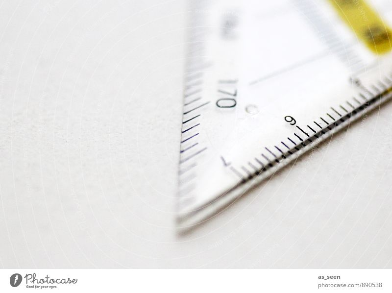 Pointed angle Handicraft Architect Geometry Workplace Office Measuring instrument Ruler Protractor triangle Technology Science & Research Plastic