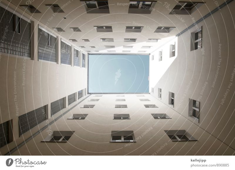 0 Town House (Residential Structure) Facade Window Blue Colour photo Exterior shot Light Shadow Contrast Worm's-eye view