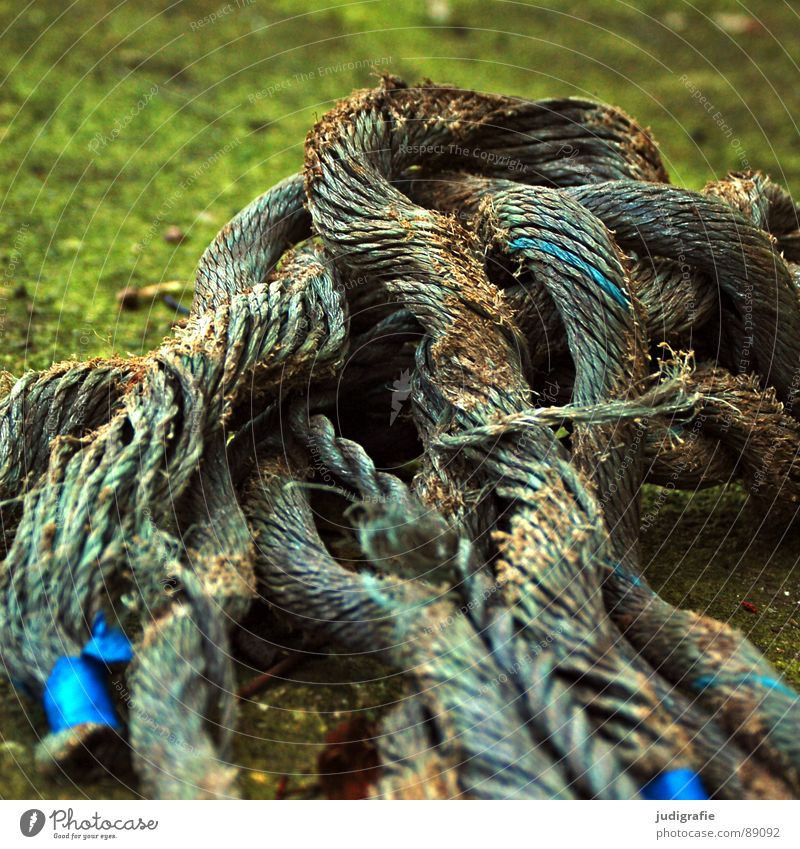 Old Blue Watercraft Feasts & Celebrations Rope Broken End Transience Obscure Thread Maritime Plaited Integration