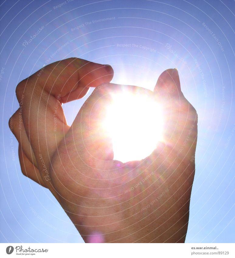 Sky Hand White Blue Sun Joy Fingers Against Thumb Fingernail Forefinger Middle finger Arrest Give the finger Ring finger