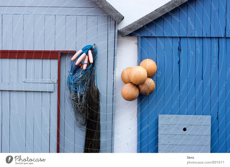 seascapes Vacation & Travel Tourism Trip City trip Hut Wall (barrier) Wall (building) Facade Door Line Authentic Sharp-edged Maritime Blue Uniqueness Change