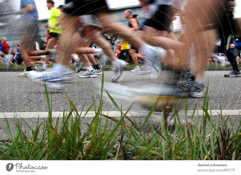 Everything fit? Jogging Speed Footwear Sneakers Endurance Grass Motion blur Sports Playing Group Fitness Walking Running Movement Legs Healthy Street