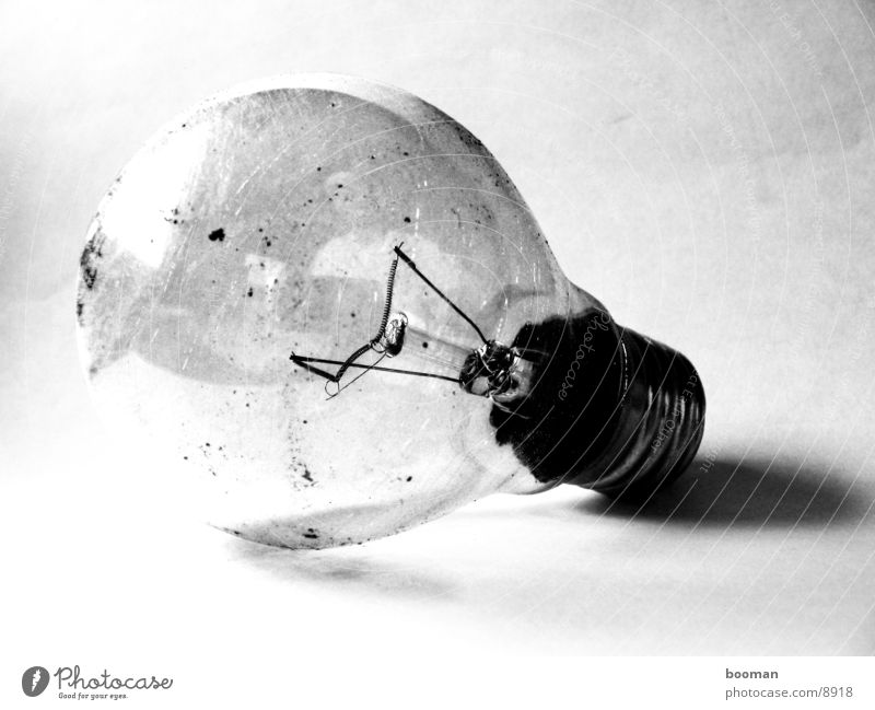 old light bulb Dirty Electric bulb Photographic technology Old Close-up Black & white photo