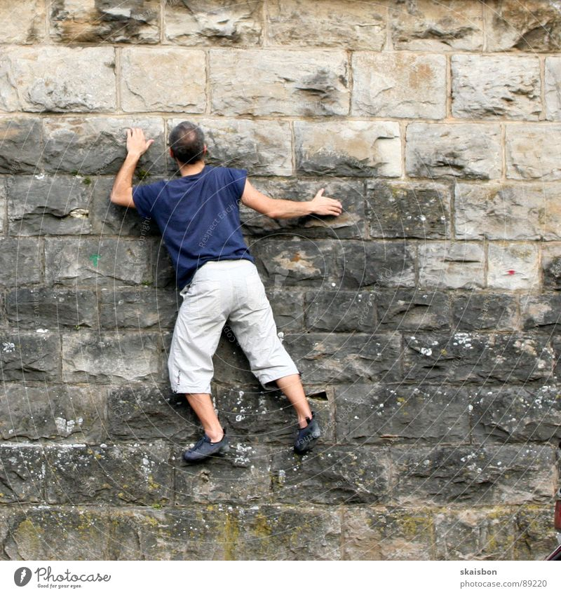 condition Leisure and hobbies Playing Freedom Mountain Feasts & Celebrations Climbing Mountaineering Man Adults Arm Legs Wall (barrier) Wall (building)
