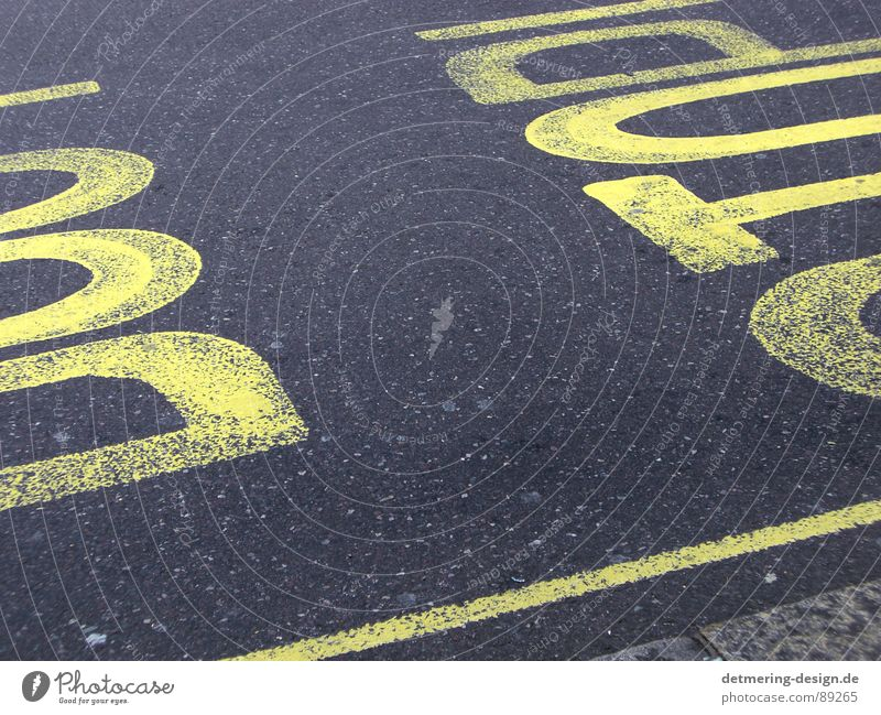 dont stop* Asphalt Pedestrian Stop Precuation Concrete Yellow Transport Black Stripe Diagonal Background picture Painted Graphic Style London Trashy Sidewalk