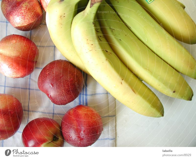fruit Nectarine Banana Blanket Dish towel Damp Laundered Healthy checker cloth Fruit