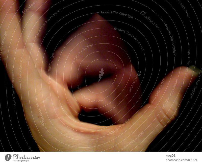 Human being Hand Black Movement Skin Fingers Speed Fingernail Alternating