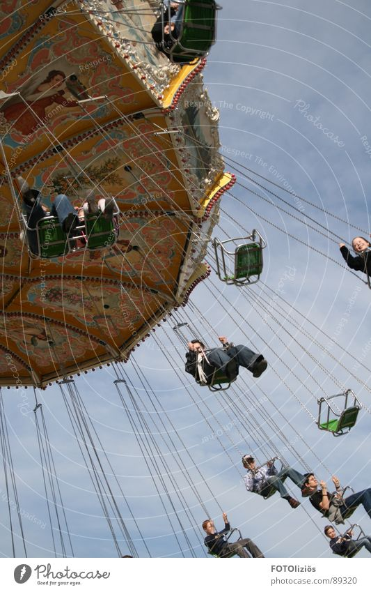 Sky Joy Clouds Flying Circle Fairs & Carnivals Chain Seating Hover Carousel Aachen Chairoplane Centripetal force Bendplatz