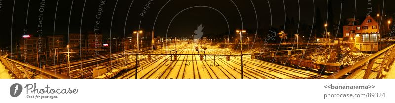 Dark Large Railroad Industrial Photography Train station Panorama (Format) Exposure Highway ramp (entrance) Winterthur