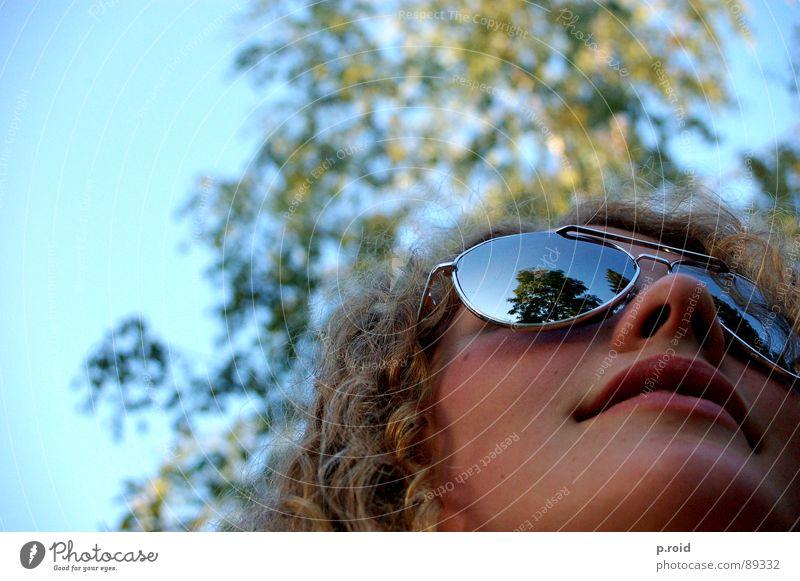 Woman Sun Summer Joy Life Blonde Mirror Lady Curl Eyeglasses Spirit Aviator goggles