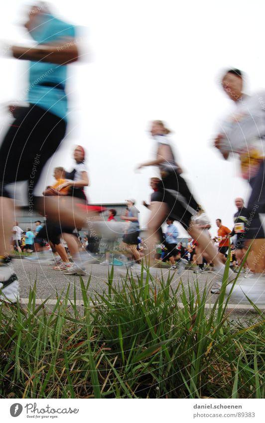 Human being Street Sports Grass Movement Group Footwear Legs Healthy Walking Running Speed Perspective Fitness Motion blur