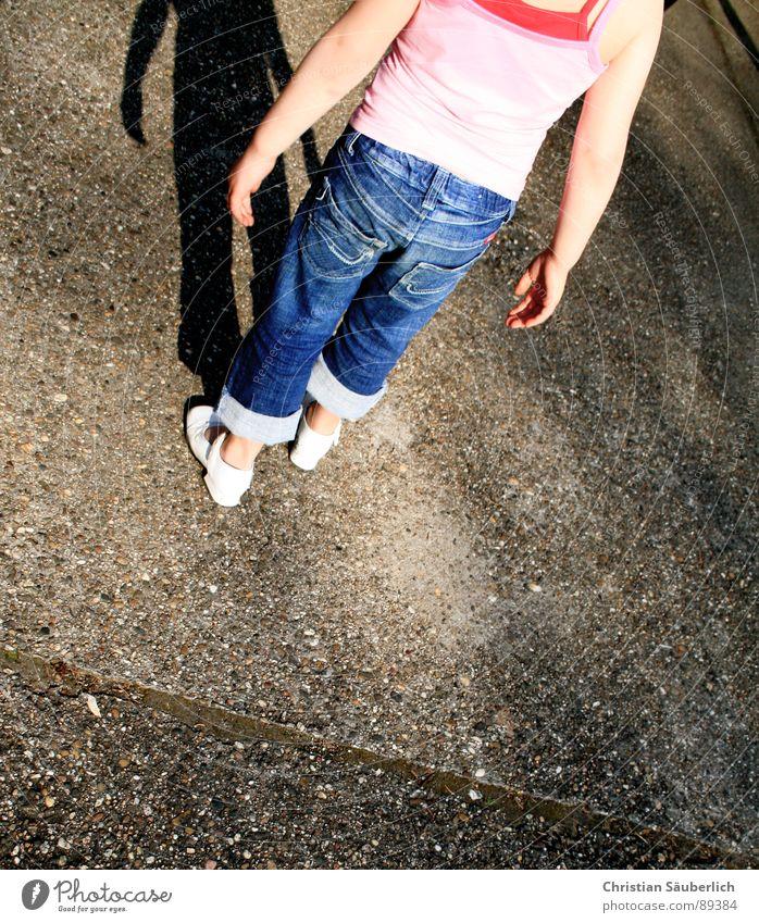 Child Hand Legs Arm Concrete Jeans Farm