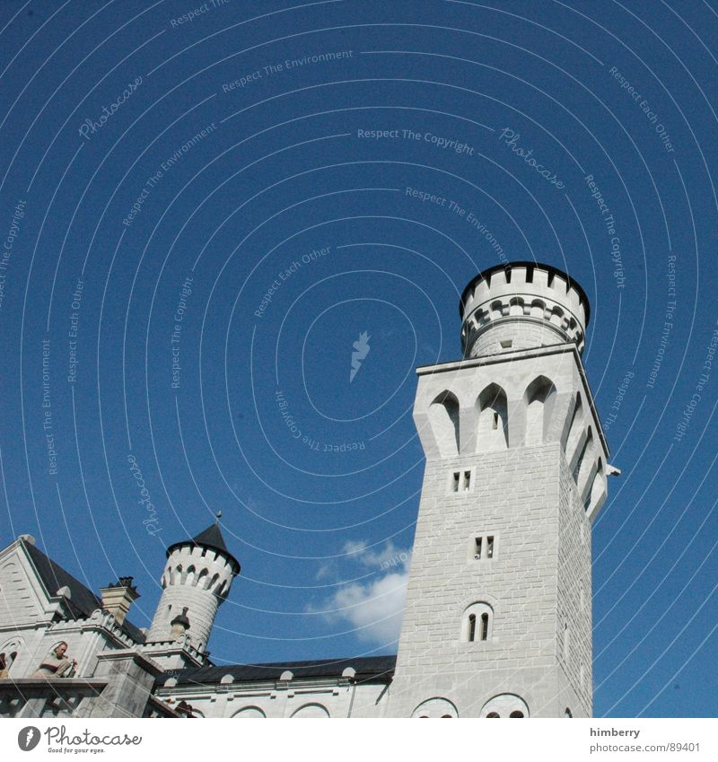 Germany Tower Castle Monument Historic Watchfulness Landmark King Palace Retreat Neuschwanstein Watch tower Royal
