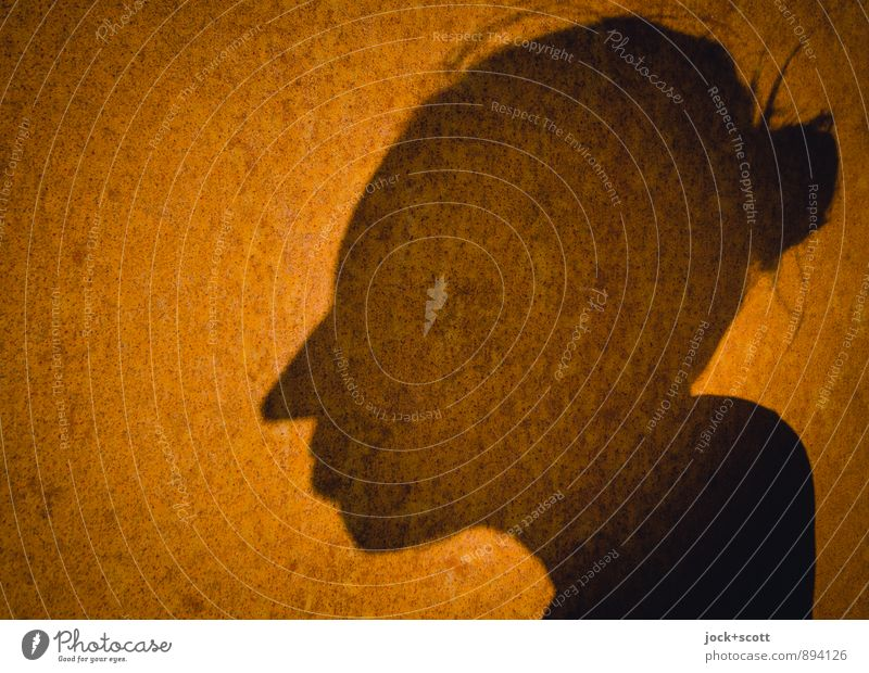 Mrs. Rusty Harmonious Head Steel Think Warmth Attentive Identity Change Surface Ravages of time Shadow play Glimmer Aura Illustration Spirited Inner strength