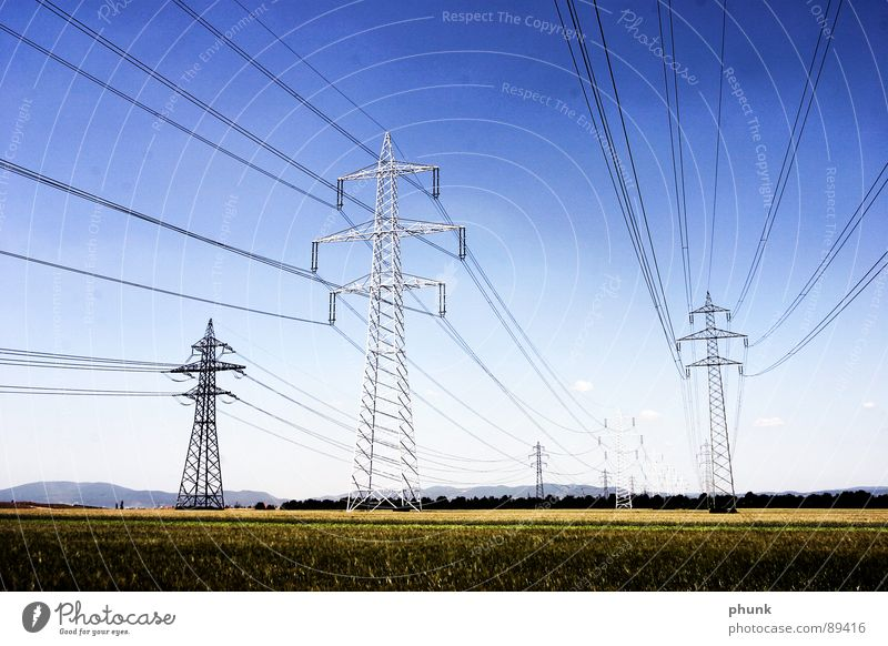...are sweeping the country. Electricity pylon Field Provision Industry Safety stom strong stom Energy industry Transmission lines Cable Americas