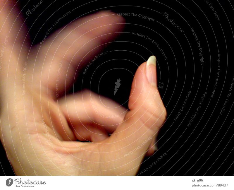 moving hand 2 Hand Speed Fingers Fingernail Human being Movement Skin Blur