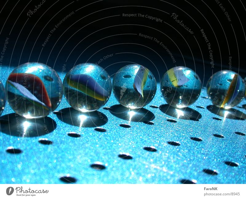 Blue Glass Marble Photographic technology