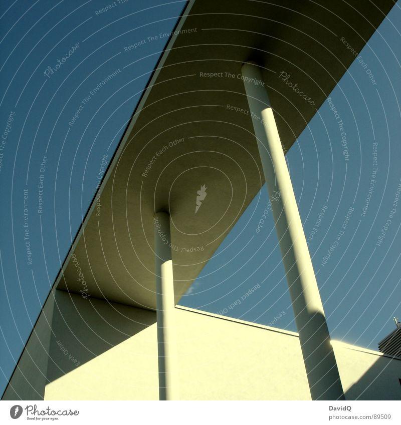 Sky Blue Cold Line Architecture Concrete Modern Corner Column Sharp-edged Linearity Modern architecture