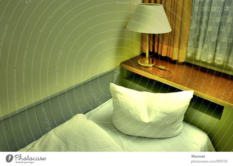 sad night02 Hotel Night Sleep Hotel room Bed Window Drape Room Bolster Furniture Bedclothes Loneliness Doomed Grief Distress Gloomy Gray Divide Twilight
