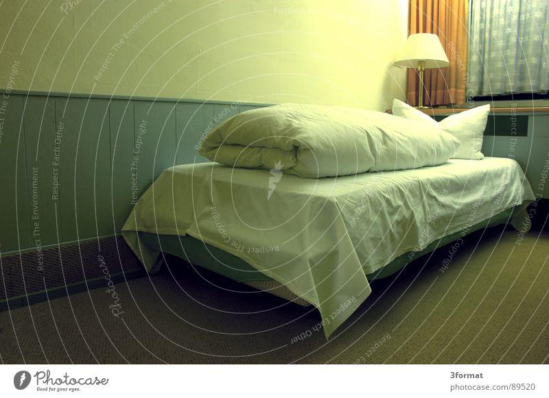 sad night03 Hotel Night Sleep Hotel room Bed Window Drape Room Bolster Furniture Bedclothes Loneliness Doomed Grief Distress Gloomy Gray Divide Twilight