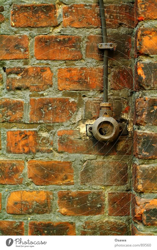 Old Wall (building) Wall (barrier) Cable Broken End Derelict Brick Past Switch Light switch