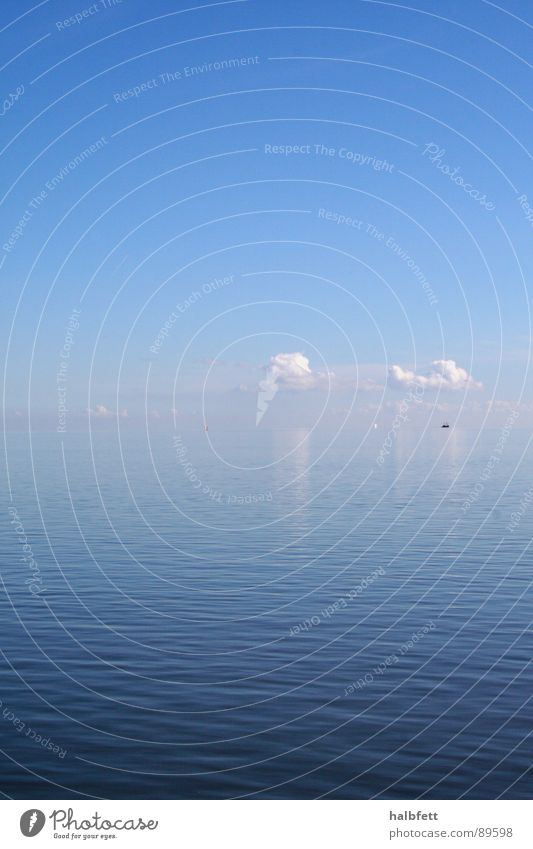 Contact Ocean Clouds Mirror Reflection Touch Infinity Horizon Calm Harmonious Weather Sky Blue Deep Nature Water