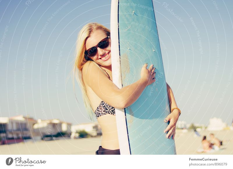 SurferGirl_04 Lifestyle Fitness Leisure and hobbies Vacation & Travel Tourism Adventure Summer Summer vacation Sun Beach Ocean Sports Feminine Young woman