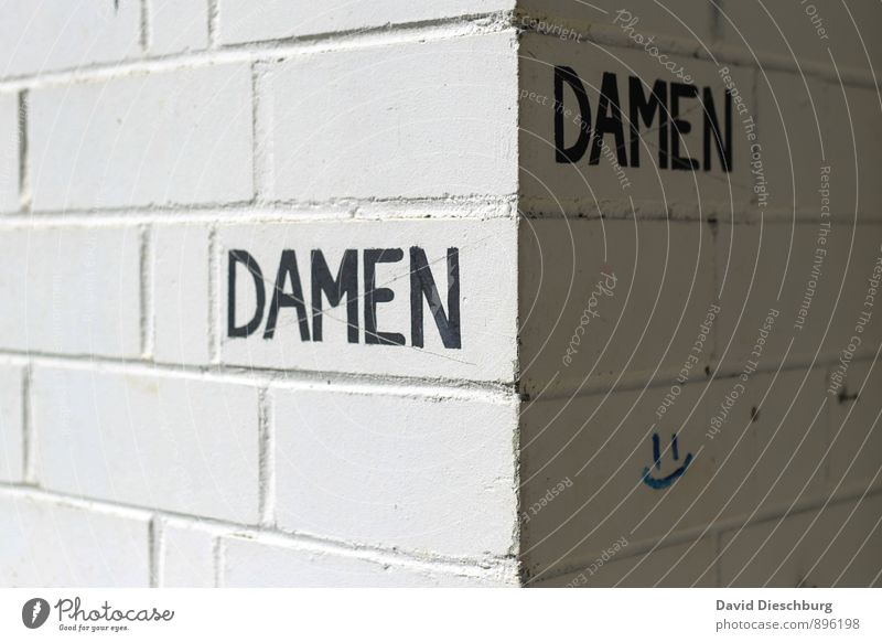 DaMen? Feminine House (Residential Structure) Wall (barrier) Wall (building) Facade Stone Sign Characters Signs and labeling Gray Black White Lady Toilet Gender
