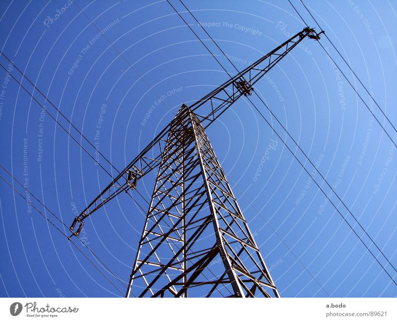 power poles Power Electricity pylon Iron Sky Altocumulus Electrical equipment Technology North Pole Air Metal dc Energy industry T-beam
