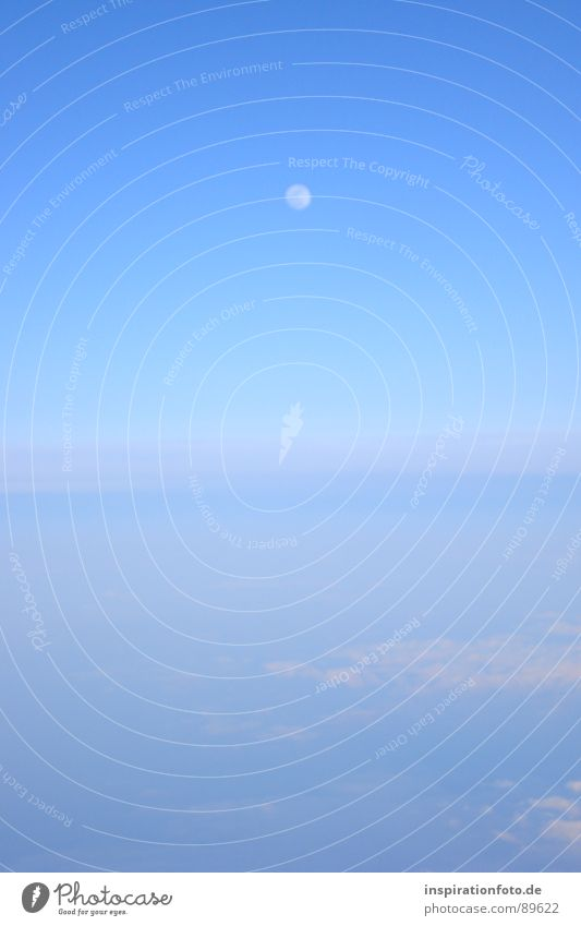 flight 7845 Clouds Horizon Glittering Bird's-eye view Twilight Fog Vail Sky Moon Earth Floor covering Blue Bright Aviation