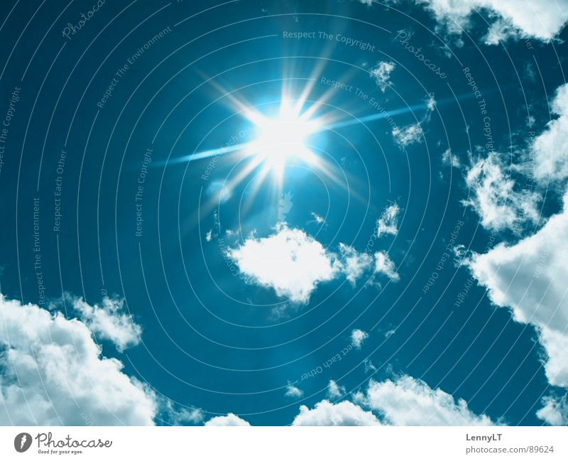 Sky Sun Blue Summer Vacation & Travel Clouds Far-off places Relaxation Bright Weather Climate Dazzle Climate change Flashy Brilliant