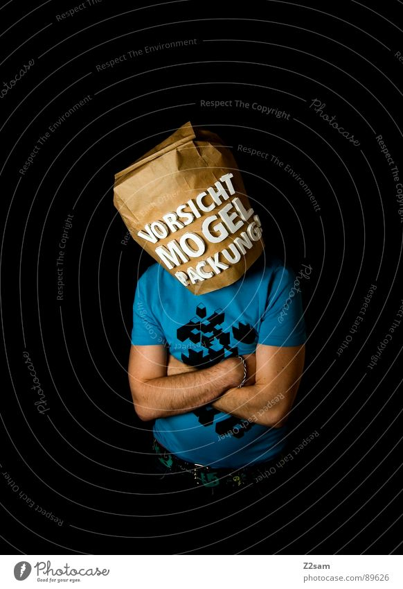 Human being Man Blue Black Far-off places Food Brown Shopping Stand Letters (alphabet) Industrial Photography Vantage point Store premises Caution Packaging