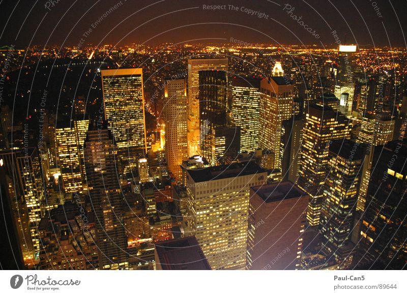 City Vacation & Travel Architecture High-rise Modern USA New York City Night life Dazzling