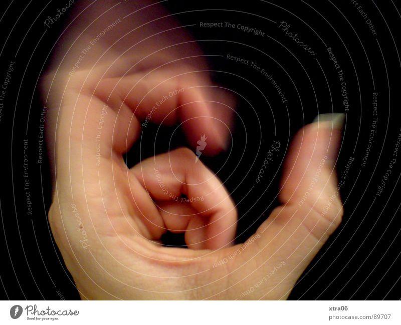 Human being Hand Black Movement Skin Fingers Speed Fingernail Fist
