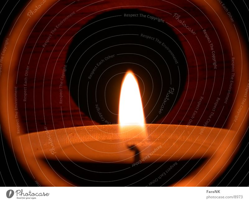 candle Candle Light Hollow Photographic technology