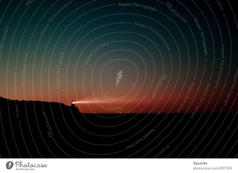 Beach Horizon Universe Lighthouse Night sky Firmament Astronomy Constellation Milky way Starlit St. Peter-Ording Galaxy Astrophotography