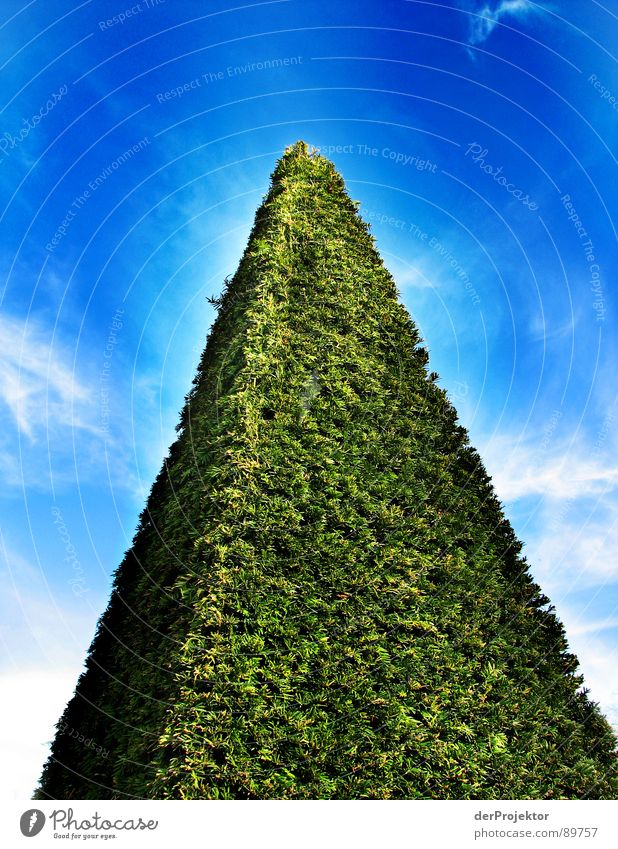 Sky White Green Blue Clouds Meadow Lawn Bushes Monument Landmark Triangle Pyramid Three-dimensional