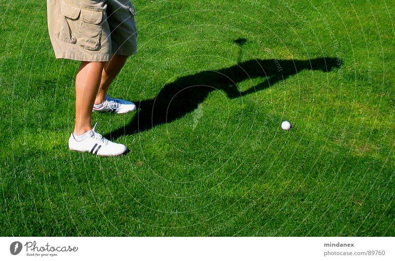 Green Sports Meadow Golf Swing Movement Tee off Golf ball