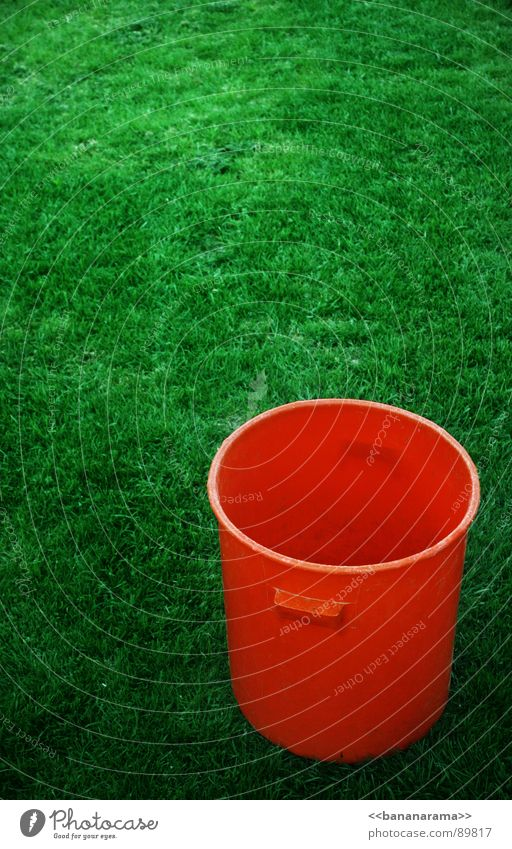 vat Tub Boiler Containers and vessels Meadow Green Gardening Gardener Bucket Leisure and hobbies Orange Colour Nature