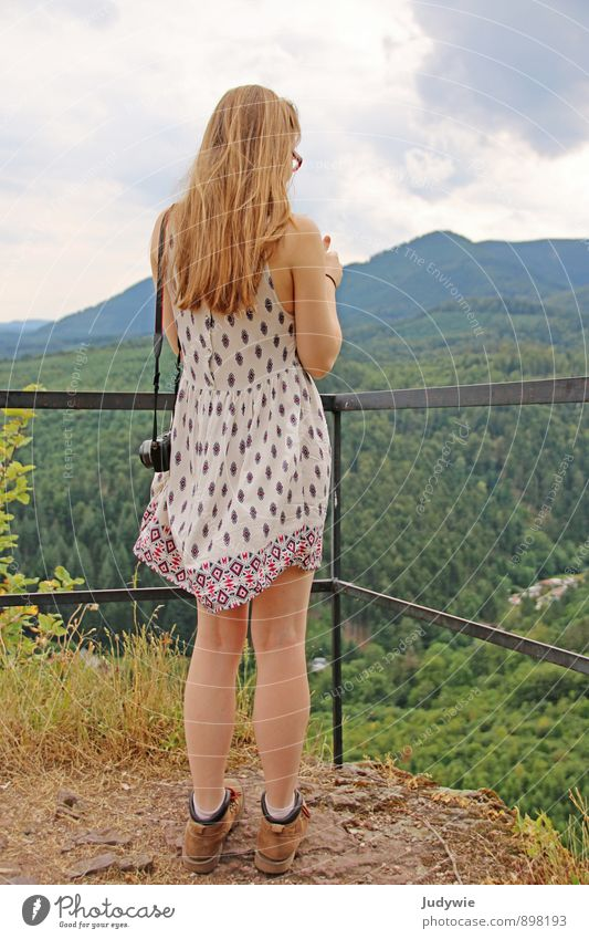 Human being Woman Child Nature Vacation & Travel Youth (Young adults) Summer Young woman Calm 18 - 30 years Forest Adults Mountain Life Travel photography