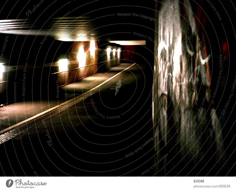 tunnels Tunnel Night London Underground Loneliness Train station Street Lanes & trails Lighting graphite rail tunnels