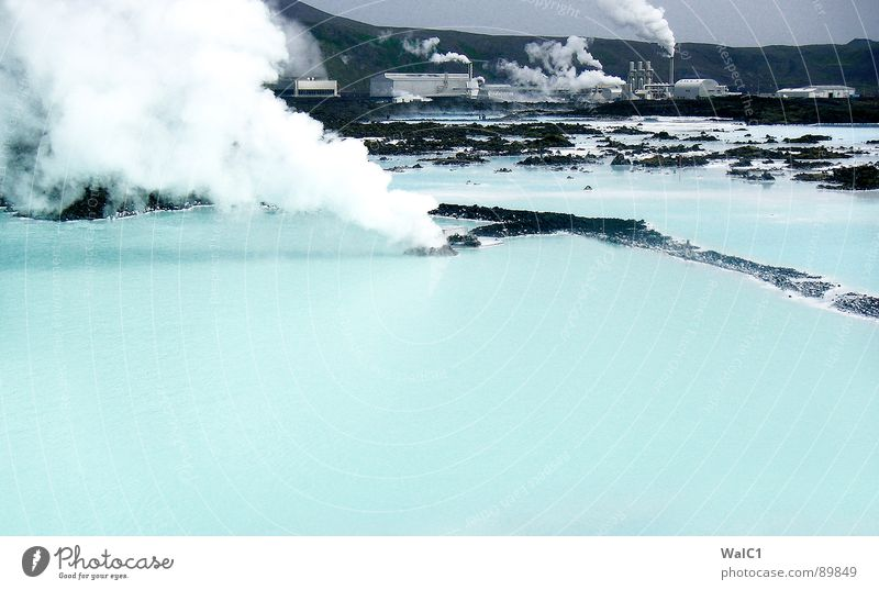 Nature Water Blue Vacation & Travel Warmth Power Healthy Wellness Bathroom Smoke Iceland Steam Electricity generating station Lagoon Pump Sulphur