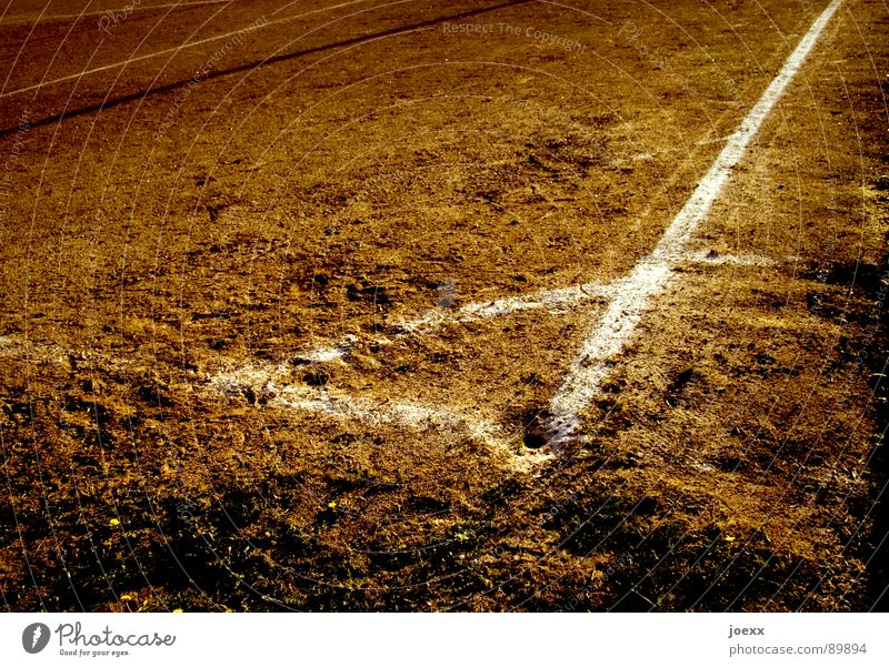 angled triangle Corner Brown Burrow Field Football pitch Hard court Places Edge Sand place Dirty Playing Sporting grounds Dust Dusty Stripe Dry Drought Desert