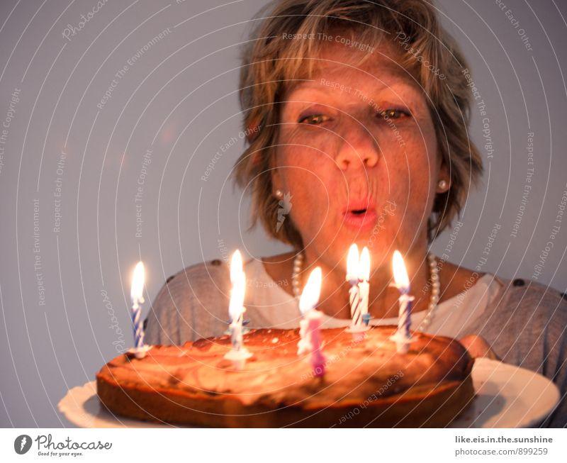 Happy Birthday II Feminine Candle Cake Birthday cake Blow Desire Birthday wish Colour photo