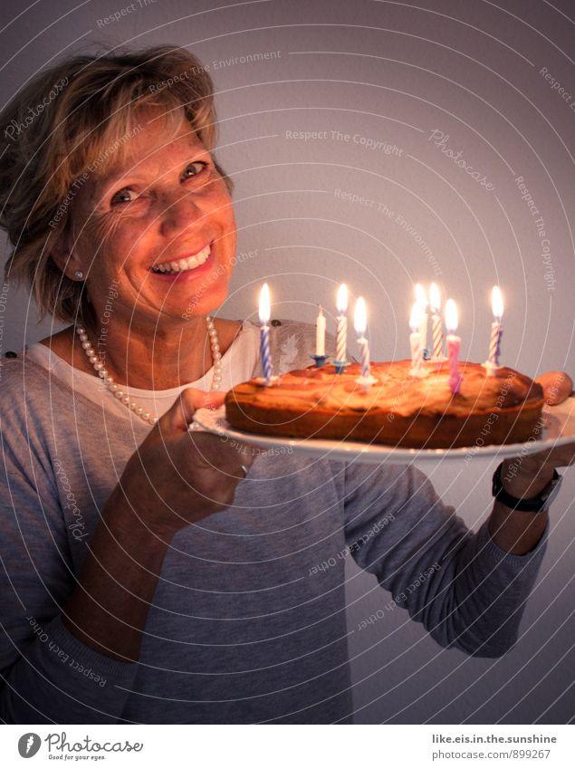 Happy birthday! Feminine Contentment Birthday Birthday cake Candle Feasts & Celebrations Colour photo