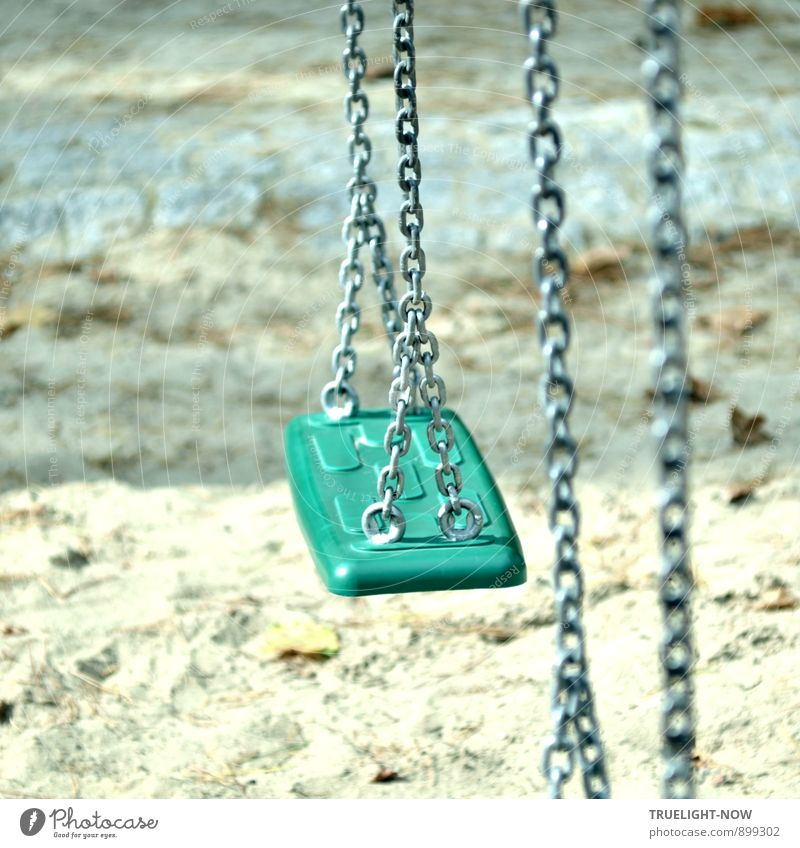 "Feel-good oasis swing: Joy Happy Life Harmonious Well-being Contentment Senses Relaxation Calm Children's game ""Playground Swing Sand"" Adventure Freedom Summer"